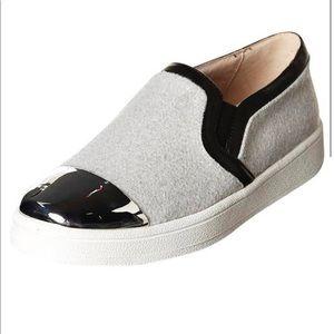 Sol Sana Daze Loafer slip-on grey felt silver toe